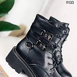 Женские ботинки ДЕМИ черные с ремешками эко- кожа весна/ осень, фото 5
