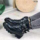 Женские ботинки ДЕМИ черные с ремешками эко- кожа весна/ осень, фото 4
