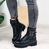 Женские ботинки ДЕМИ черные с ремешками эко- кожа весна/ осень, фото 3