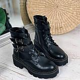 Женские ботинки ДЕМИ черные с ремешками эко- кожа весна/ осень, фото 6