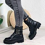 Женские ботинки ДЕМИ черные с ремешками эко- кожа весна/ осень, фото 9