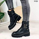 Женские ботинки ДЕМИ черные с ремешками эко- кожа весна/ осень, фото 7