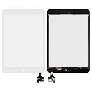 Сенсорный экран для iPad Mini, iPad Mini 2 Retina, с микросхемой, с кнопкой HOME, белый