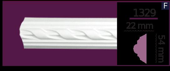 Молдинг для стен  Home Décor 1329 (2.44м)  , лепной декор из полиуретана