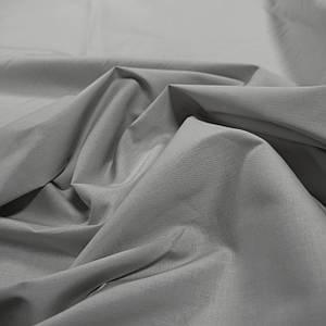 Ткань рубашечная поплин стрейч серый