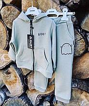 Спортивный костюм трехнитка Оливковый для мальчика р. 86, 92, 104