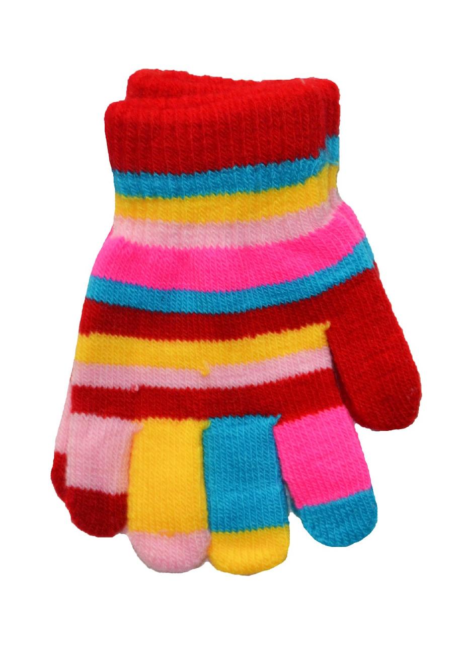 Перчатки детские весёлые с начесом