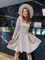 Женское замшевое платье , красивое нарядное платье дайвинг , вечернее женское платье , красивое лёгкое платье