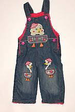 Брюки джинсовые на девочку на махре 1,2 года.