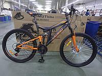 """Велосипед гірський двухподвесной AZIMUT POWER 26"""" чорно-червоний, фото 1"""