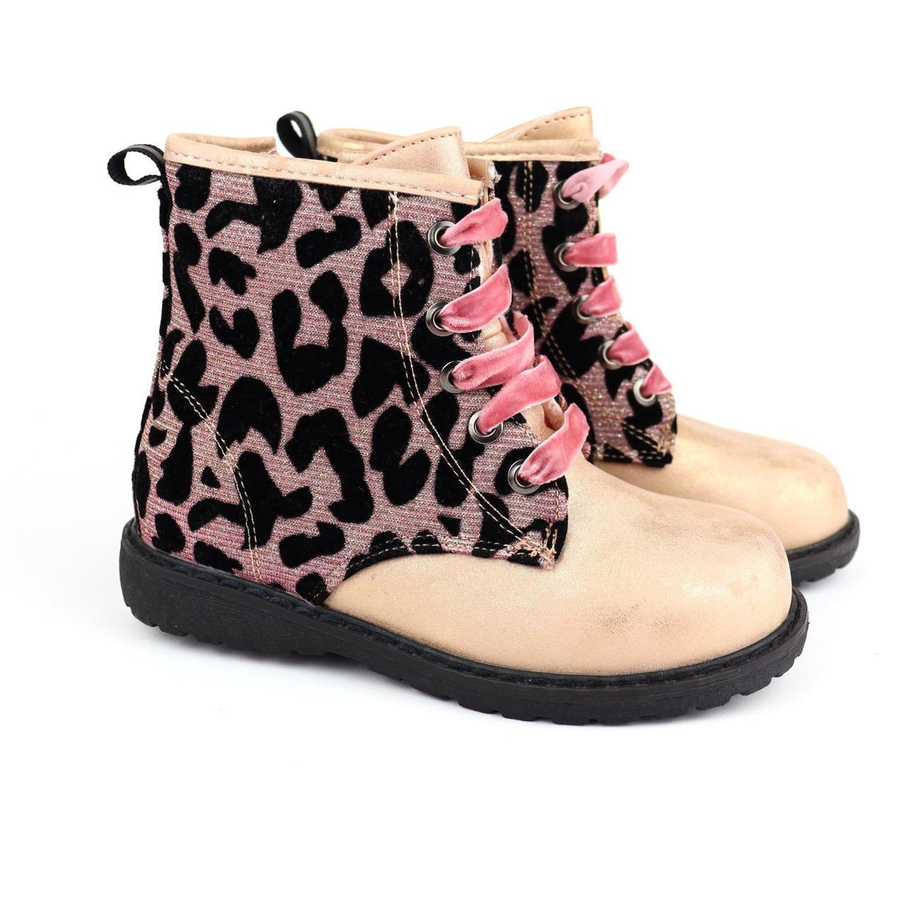 5831A Ботинки демисезонные для девочки леопард тм Том.м размер 25,26,27,28,29,30,31,32