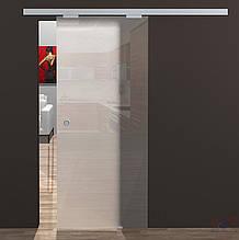 Душова двері розсувні кабіна (графіт - сіра) 2100*1000