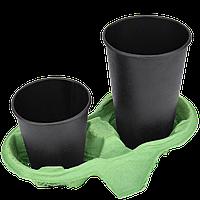 Підставка для стакана 2-секції, 1шт (1уп/260шт ), (колір-зелений), фото 1