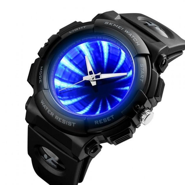 Мужские оригинальные часы Skmei 1521 черные