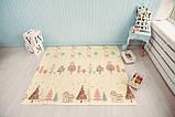 Безкоштовна доставка! Двосторонній дитячий складаний килимок (Доріжки/Поляна) розмір 1,8 на 2 м, фото 9