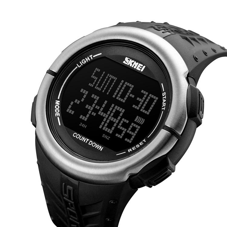 Мужские спортивные часы Skmei 1286 Черные