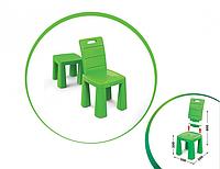 Стульчик 2в1 для детей от ТМ Долони, стул пластиковый, детский, цвет салатовый