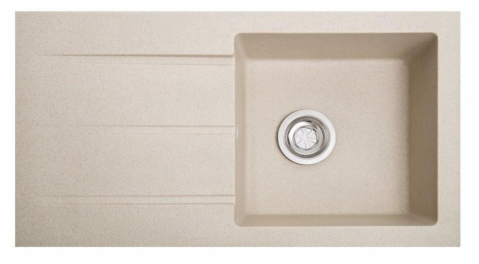 Кухонна мийка гранітна з крилом Galati Quadro Avena (501)