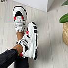 Жіночі білі кросівки, екошкіра, фото 2