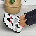 Жіночі білі кросівки, екошкіра, фото 4
