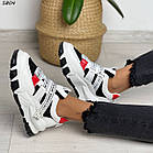 Жіночі білі кросівки, екошкіра, фото 5