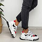 Жіночі білі кросівки, екошкіра, фото 6