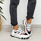 Жіночі білі кросівки, екошкіра, фото 7