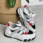 Жіночі білі кросівки, екошкіра, фото 10