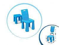 Стульчик 2в1 для детей от ТМ Долони, стул пластиковый, детский, цвет голубой