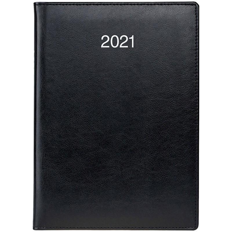 Ежедневник А5 датированный 2021 Soft черный