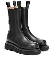 Женские зимние ботинки Боттега ( Bottega Veneta Lug Leather Ankle Boots )