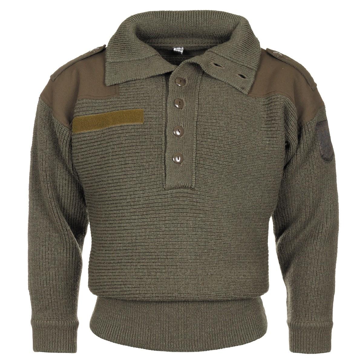 """Австрийский шерстяной свитер """"Alpin"""" тёмно-зелёный"""