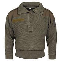 """Австрийский шерстяной свитер """"Alpin"""" тёмно-зелёный, фото 1"""