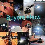 Велосипедный фонарь с зумом NEWBOLER (1800LM, XML T6*3, Micro USB, Zoom, Поворотное крепление), фото 5