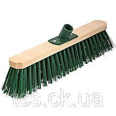 Щетка промышленная ГОСПОДАР 400х75х150 мм ПЭ+ПВХ деревянная с пластиковым креплением без ручки 14-6465