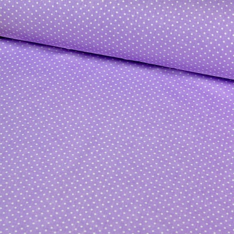 ✁ Отрезы бязи Горошки 2 мм на фиолетовом
