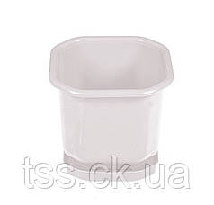 Горшок цветочный 12*12 см с поддоном белый ГОСПОДАР 92-8000