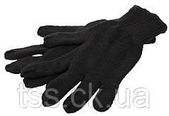 Перчатки трикотажные зимние двойные MASTERTOOL УНИВЕРСАЛ 70% хлопок/30% полиэстер 10 класс 2 нити 64 гр черные