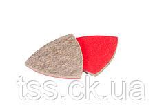 Насадка кругла повстяна грубошерста на липучці для реноватора 85 мм, 10 шт MASTERTOOL 08-6598
