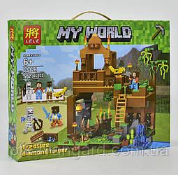 Конструктор Майнкрафт Башня с алмазами Lele 33126 Minecraft My World 572 детали