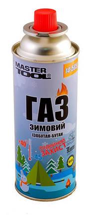 "Газ бутан ""ЗИМНИЙ"" 220 г MASTERTOOL 14-5051, фото 2"