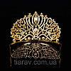 Діадема висока корона золота БАДЕН прикраси для волосся, фото 7