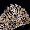 Діадема висока корона золота БАДЕН прикраси для волосся, фото 8