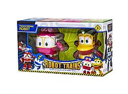 """Игровой набор Трансформеры """"Роботы поезда / Robot trains"""" Утенок Duck и Селли Selly 14см"""