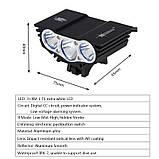 """Велосипедный фонарь Фара SolarStorm x3 """"СОВА"""" (XML T6*3, 6500k, IPX7, Аккумулятор 6400mAh) ПОЛНЫЙ КОМПЛЕКТ!, фото 7"""