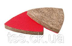 Насадка кругла повстяна грубошерста на липучці для реноватора 75 мм, 10 шт MASTERTOOL 08-6597