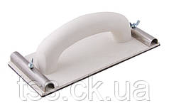 Тёрка пластиковая для абразивной сетки 105*230 мм цельнолитая, толщина 3 мм MASTERTOOL 08-0113