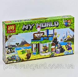 Конструктор Майнкрафт Кондитерская 3в1 Minecraft My World Lele 33221 446 деталей