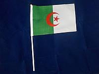 Флажок Алжира 14х21см на пластиковом флагштоке
