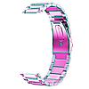 Браслет для годинника 20 мм Samsung Sport Gear сталевий з подвійним замком та фіксатором, фото 2